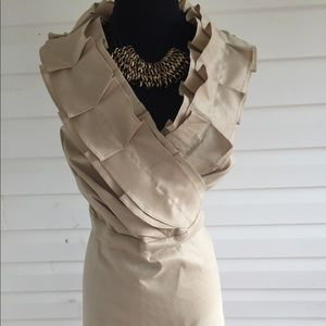 Sleeveless Ruffled Midi Dress
